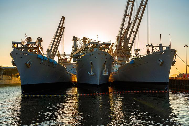 ships in yard